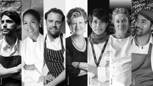 This is the top chef jury for S.Pellegrino Young Chef 2018