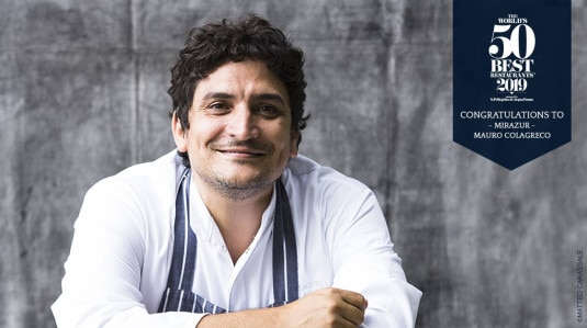 Picture of the winner Mauro Colagreco, chef of Mirazur