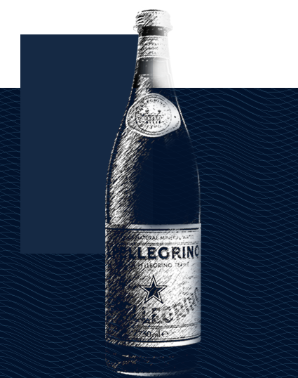 S.Pellegrino limited edition glass water bottle