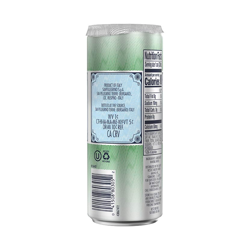 S.Pellegrino slim Can side