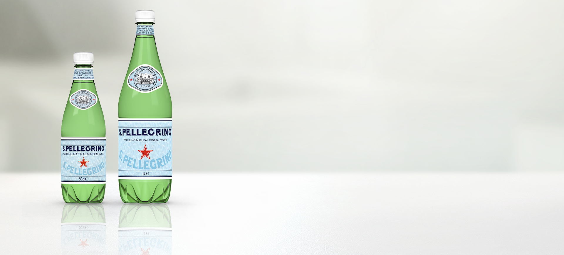 S.Pellegrino Sparkling Natural Mineral Water PET range
