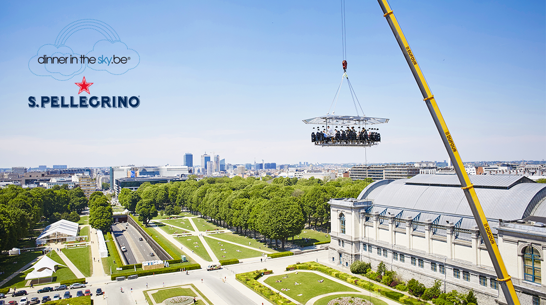 S.Pellegrino dinner in the Sky Bruxelles Anvers
