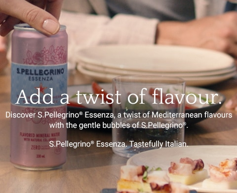 S Pellegrino sparkling water: the italian water