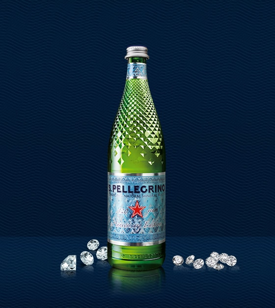 Sanpellegrino 120 years diamond bottle