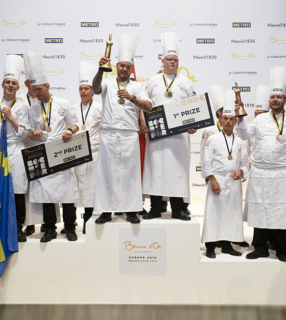S.Pellegrino ved Bocuse d'Or Europe 2018