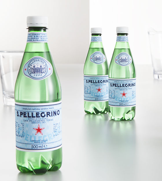 S.Pellegrino sparkling water: the italian water