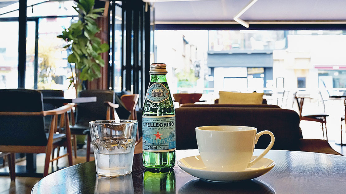 The Sanpellegrino 25cl glass bottle