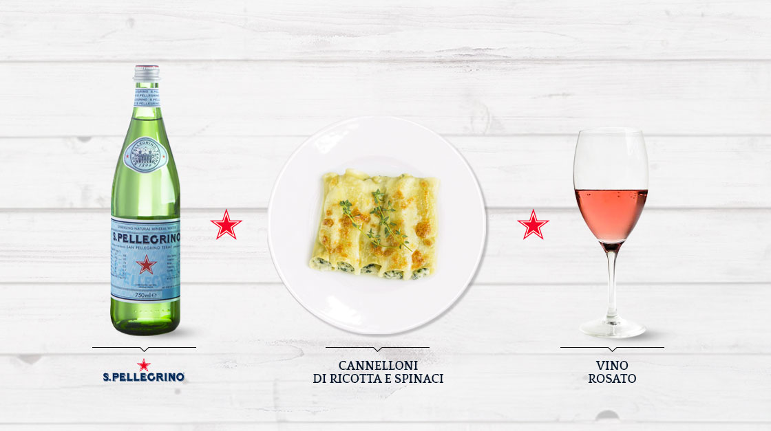 Sanpellegrino perfect pairing cannelloni