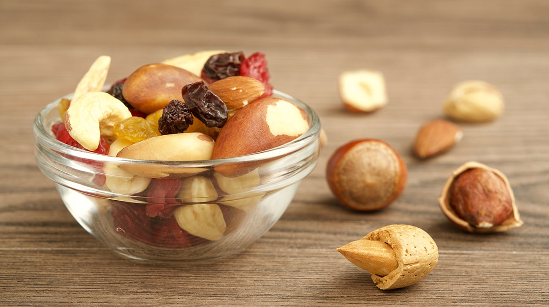Mixed nuts in Italian Cuisine