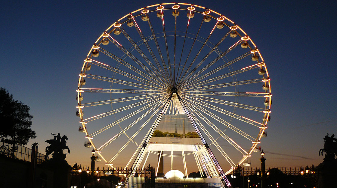 S.Pellegrino organized  a unique dining experience on the Grand Roue on Place de la Concorde in Paris