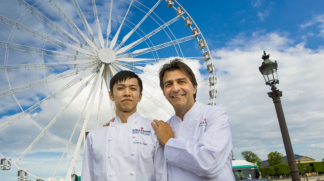 The menu consists of signature dishes by Shintaro Awa and his mentor Yannick Alléno