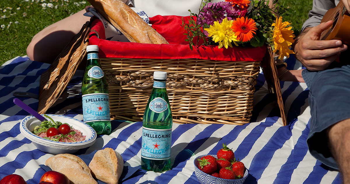 Italian picnic with S.Pellegrino sparkling water