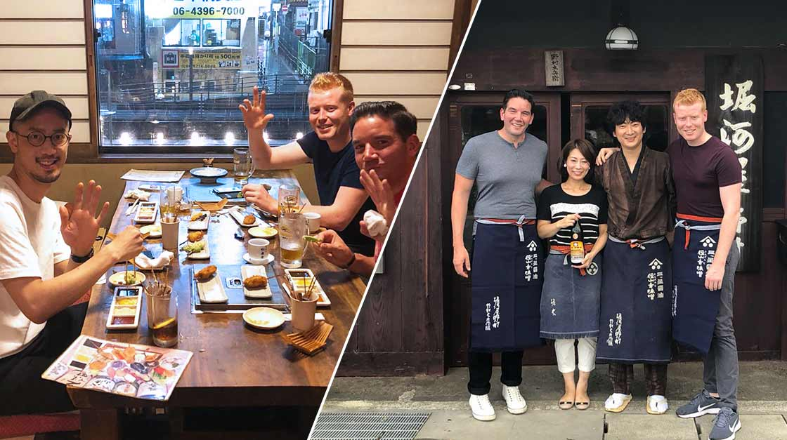 San Pellegrino Young Chef's winners visiting Japan