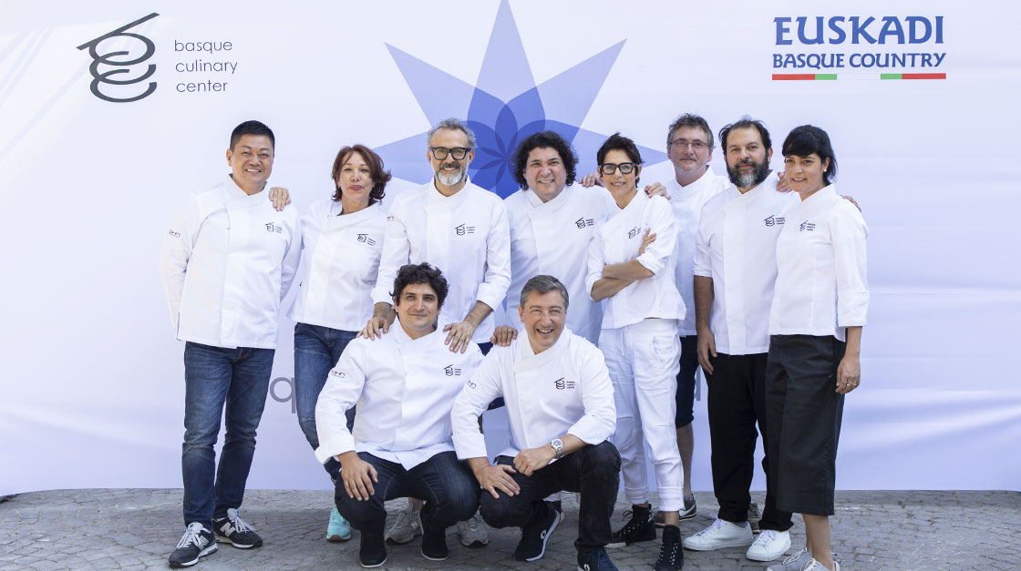 Les chefs professionnels à le Basque Culinary World Prize 2018