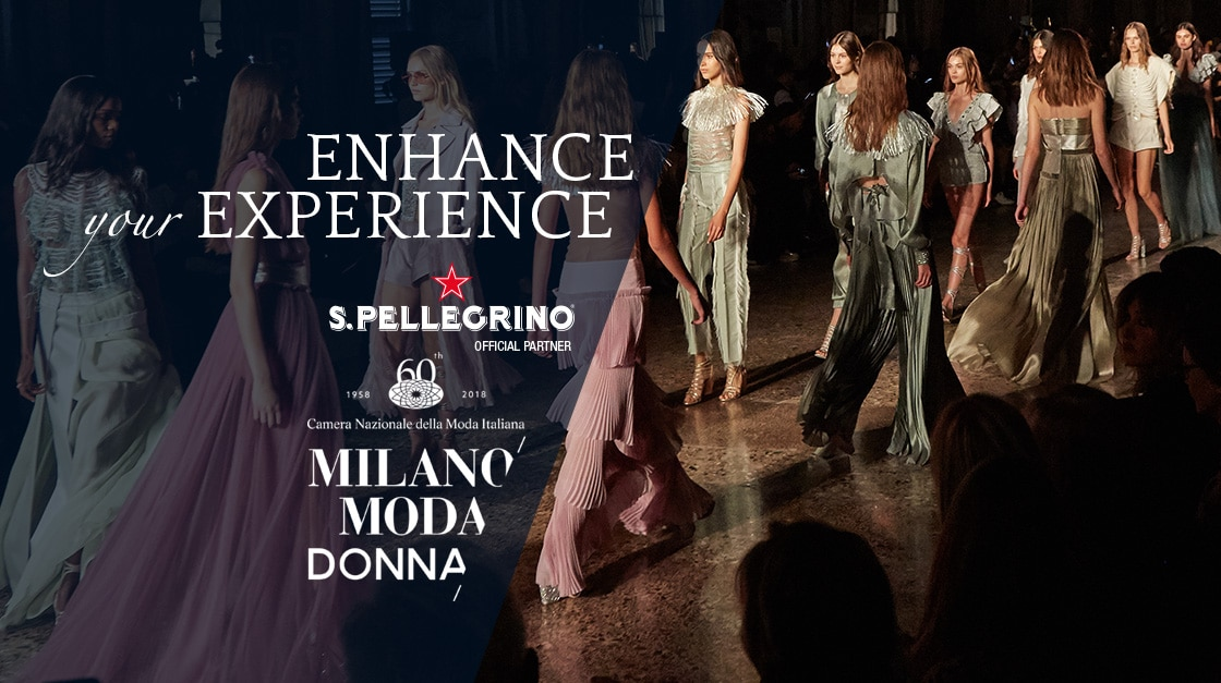 S.Pellegrino is the Official Water of the National Chamber of Italian Fashion