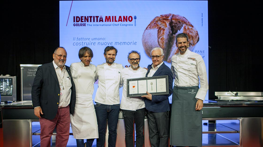 The tribute to Alain Ducasse at Identità Golose 2019