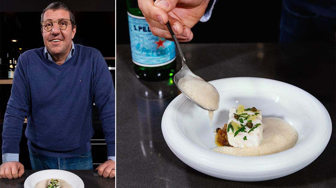 S.Pellegrino with two starred-Michelin chef Claude Bosi for a virtual cooking experience - composit