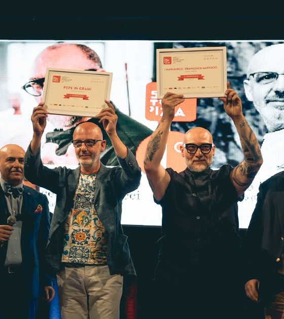 Franco Pepe e Francesco Martucci,  vincitori di 50 Top Pizza 2019