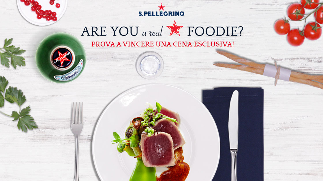 Concorso Are you a real foodie