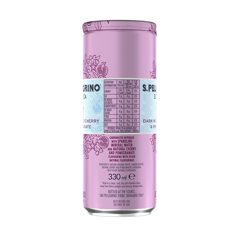 ... S.Pellegrino Essenza, Dark Morello Cherry and Pomegranate Can Nutrition facts ...
