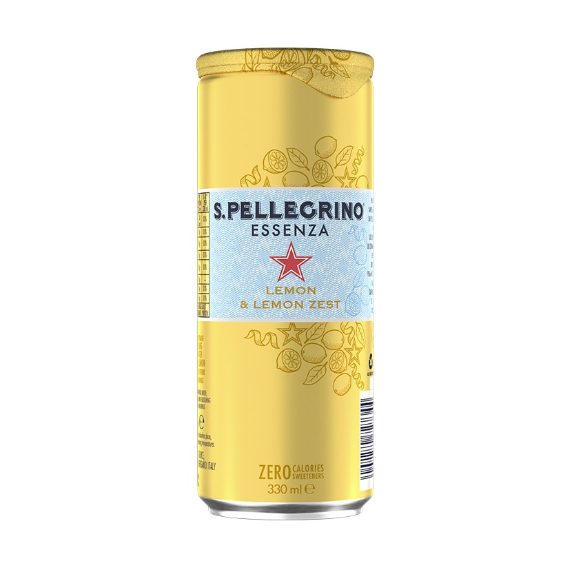 S.Pellegrino Essenza, Lemon and Lemon Zest Can front