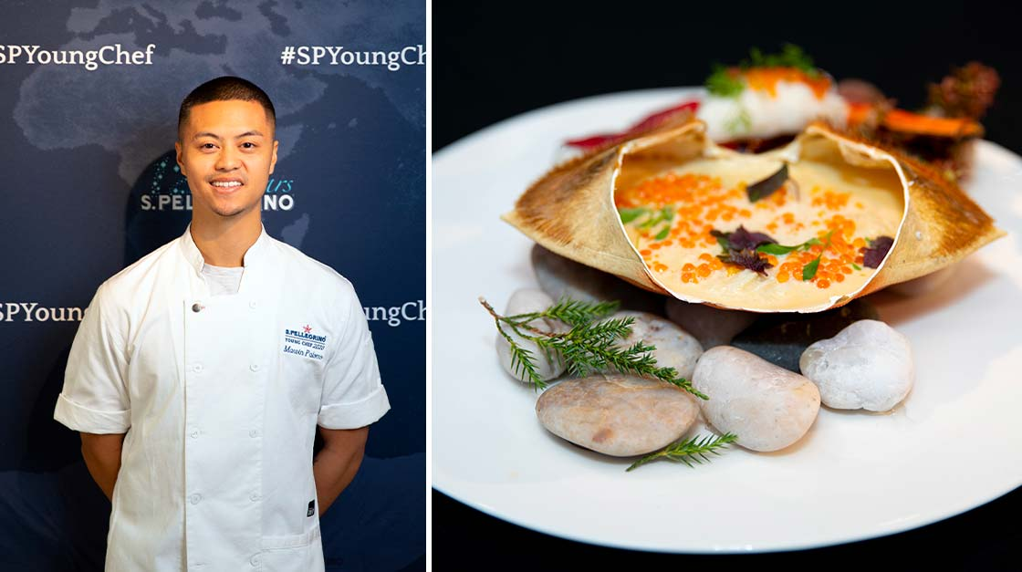 Marvin Palomo of Oakville, Ontario and his Signature Dish: Dungenese Crab Chowanmushi