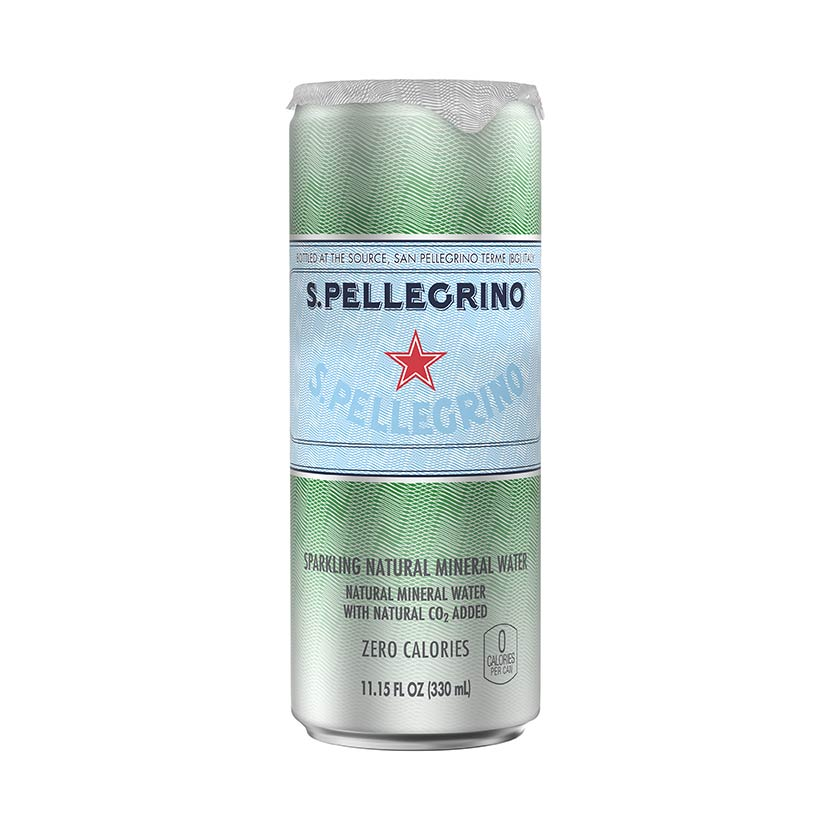 S.Pellegrino sleek can front
