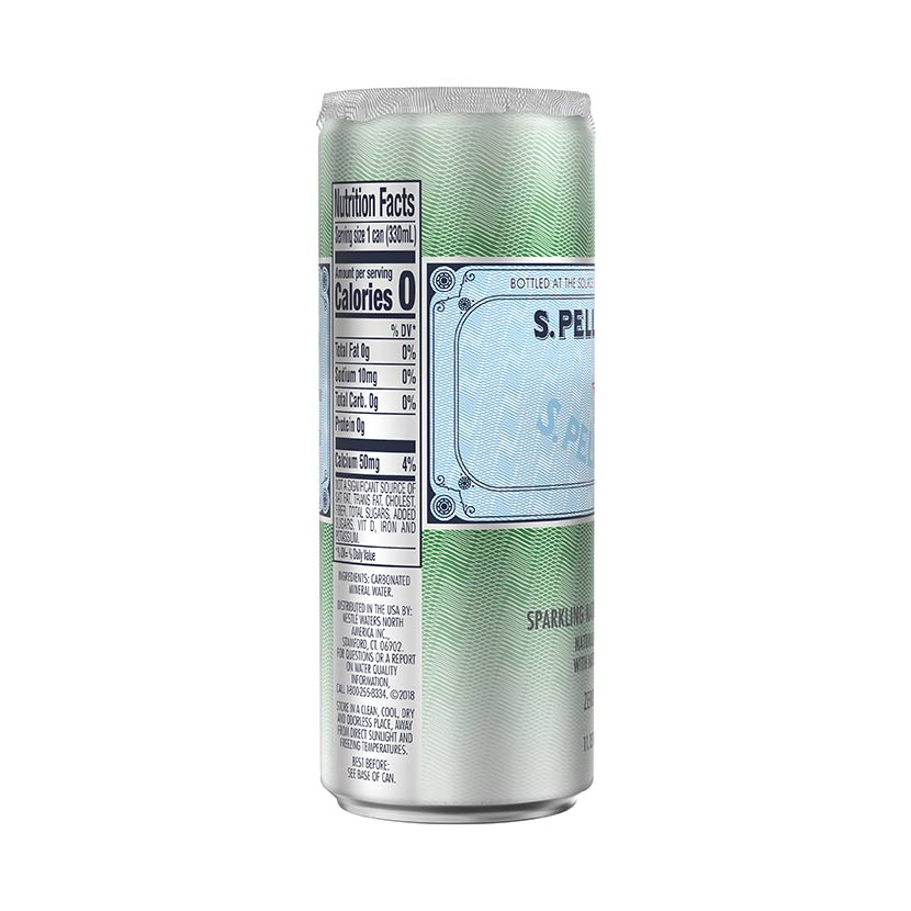 S.Pellegrino sleek Can Nutrition facts