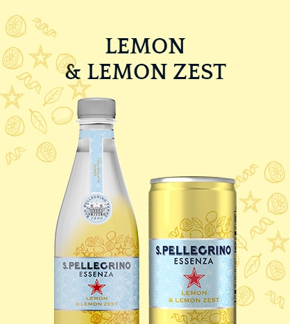 S.Pellegrino Essenza with Lemon and Lemon zest