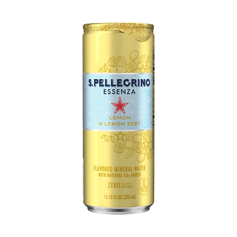 S.Pellegrino® Essenza, Lemon and Lemon Zest Can front