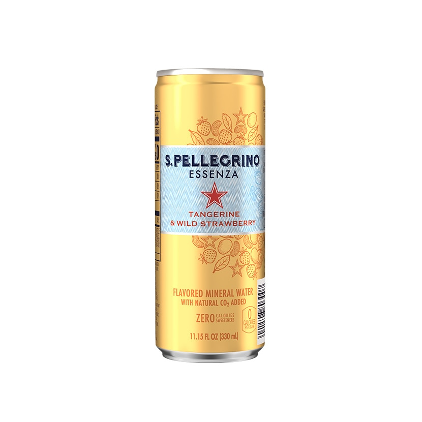 S.Pellegrino Essenza, Tangerine and Wild Strawberry Can back