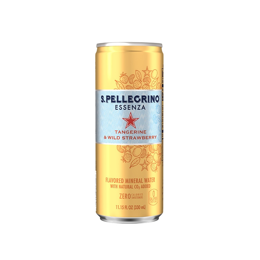 S.Pellegrino Essenza, Tangerine and Wild Strawberry Can front