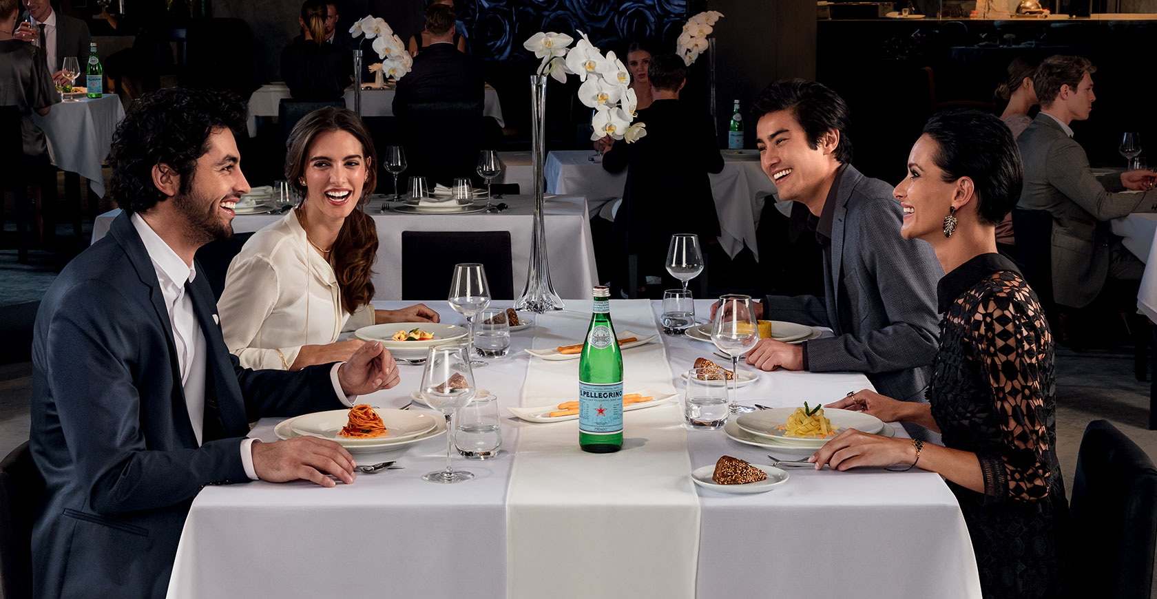 Enhance your moments with S.Pellegrino water, a timeless icon of Italian style