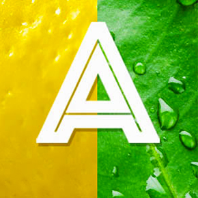 The letter A of the citruspedia sanpellegrino