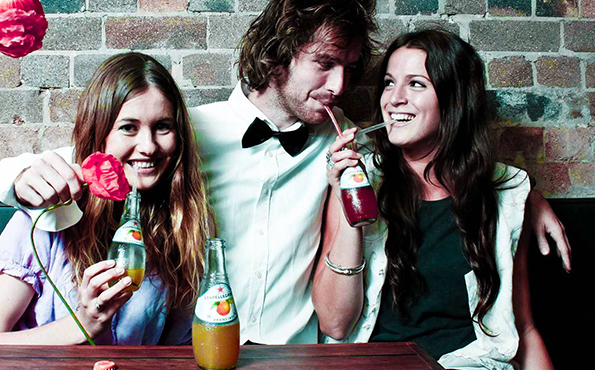 People having fun and drinking Sanpellegrino fruit beverages