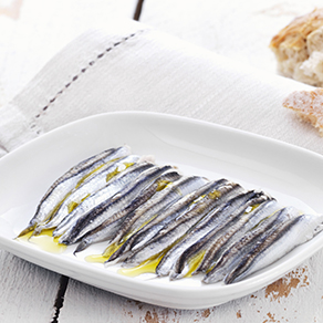 Anchovies in oil