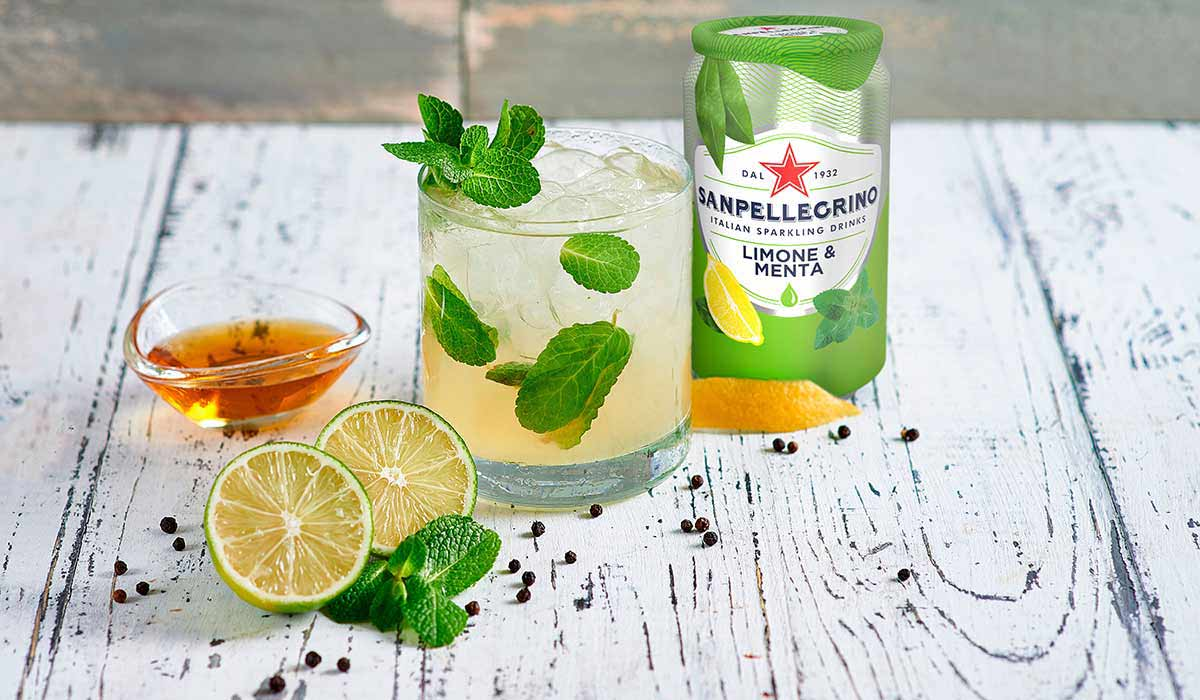 Chili Lime mocktail with Sanpellegrino Limone & Menta