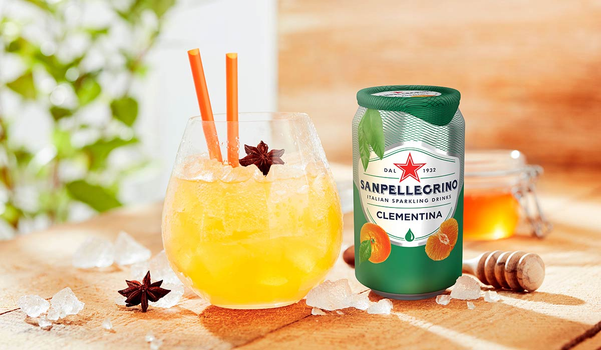 Clementina Dream Mocktail with Sanpellegrino Clementina