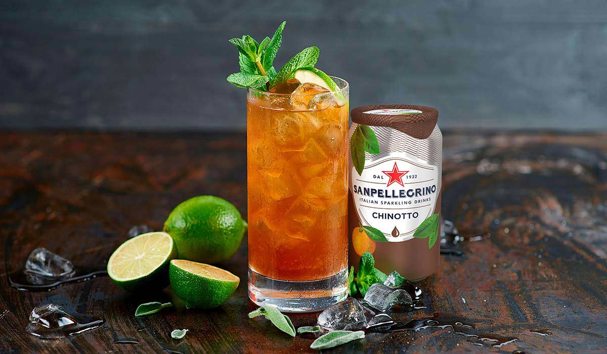 Green Chinotto with Sanpellegrino Chinotto