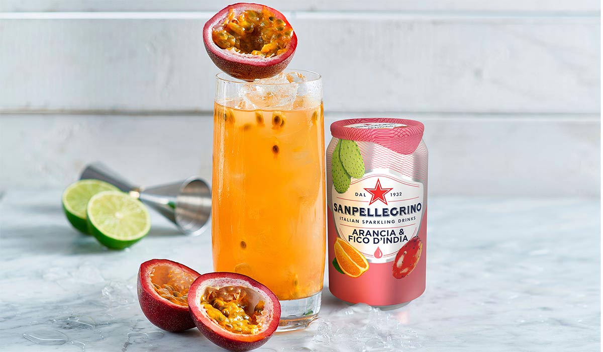 Sweety mocktail with Sanpellegrino Arancia & Fico d'India
