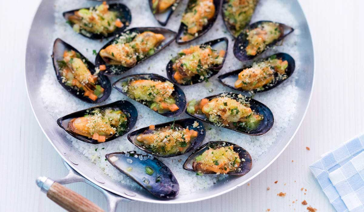 gratin of mussels recipe