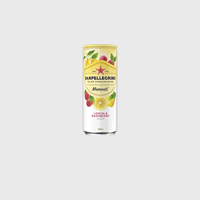 Sanpellegrino Momenti lemon and raspberry 330ml can