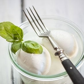 Mozzarella di Bufala Campana is a specialty traditionally produced in the Campania region