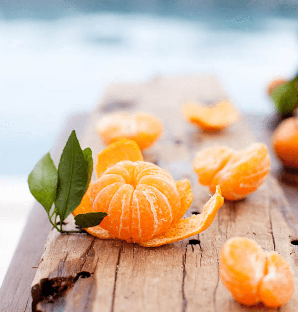 The tangerine is a cross between an orange and a mandarin