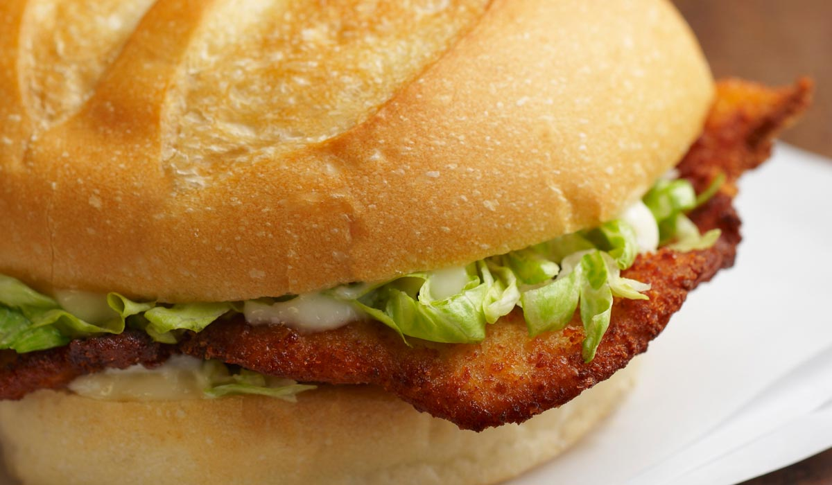 Bread roll filled with a veal cutlet recipe